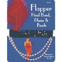 FLAPPER HEADPIECE RED FEATHER