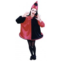 CLOWN COSTUME RED BLACK