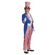 UNCLE SAM COSTUME LARGE DLX
