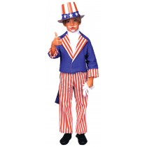 UNCLE SAM CHILD COSTUME LARGE