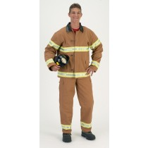 FIRE FIGHTR ADULT TAN W HELMET