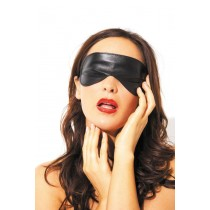 BLINDFOLD LEATHER BK OS