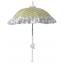 PARASOL DLX LACE RUFFLE YELLOW