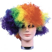 WIG CURLY CLOWN RAINBOW BUDGET