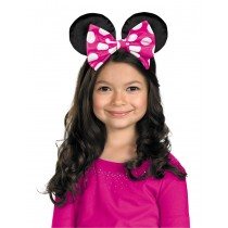 MINNIE MOUSE EARS W/REV BOW