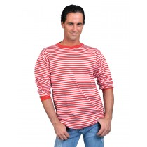 CLOWN SHIRT RED WHITE ADULT