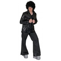 DISCO JACKET BLACK ADULT LG