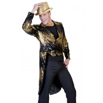 GLITTER TAILCOAT GOLD ADULT XL