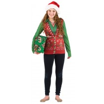 LADIES UGLY CHRISTMAS VEST LG