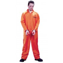 GOT BUSTED JUMPSUIT/ORANGE