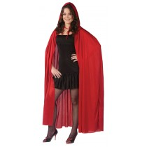 CAPE 68 INCH HOODED RED