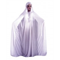 CAPE 68 INCH HOODED WHITE