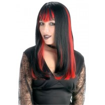 WIDOW BLACK WIG W Red