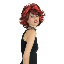 CHOPPY WIG RED BLACK