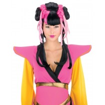 COUTURE GEISHA WIG PINK BLACK