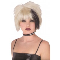 PRISTINE PUNK WIG BLACK BLONDE