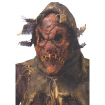 SCARECROW GUNNY SACK MASK RED