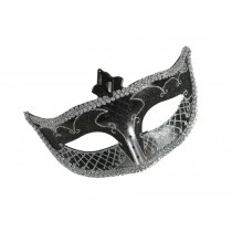 CARNIVAL MASK NO FEATHER BLACK