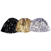 CLOCHE HAT SEQUIN BLACK