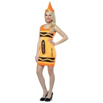 CRAYOLA TANK DRESS NEON ORANGE