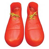 CLOWN SHOE PLASTIC RED