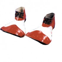 CLOWN SHOE RUBR RED WHITE