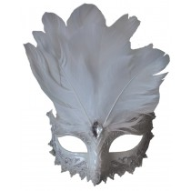 CARNIVALE EYE MASK WHITE SILVE