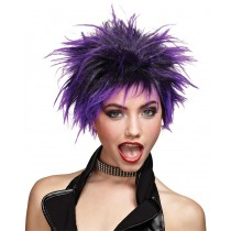 WIG PURPLE PUNKER CHICK