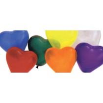 BALLOON 6IN HEART CARNIVAL AST