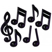 MUSIC NOTES PLASTIC PACK OF 7