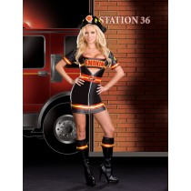 SMOKIN' HOT FIRE DEPT WOM LG