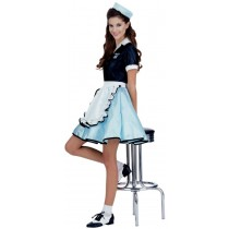 CAR HOP GIRL COSTUME ADULT