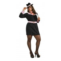 GUN MOLL ADULT COSTUME PLUS