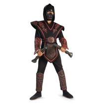 RED SKULL WARRIOR NINJA CHLD S