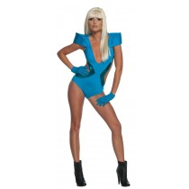 LADY GAGA BLUE SWIMSUIT SMALL