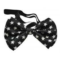BOW TIE BLACK W WHITE STARS