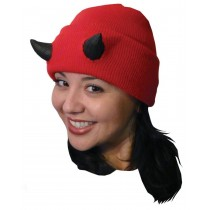 CREATURE CAP RED W HORNS