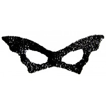 BAT MASK SEQUIN BLACK