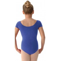 LEOTARD SHRT SLV BLUE LARGE