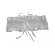 GARTER SATIN W RUFFLE AND BOW