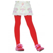 TIGHTS CHILD RED LRG 7 TO 10