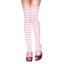 LEG WARMERS WHITE-LT PINK OS