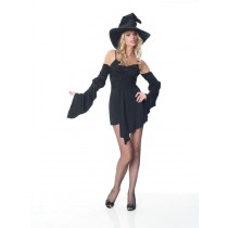 SEXY WITCH DRESS AND HAT SM MD
