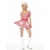 CANDY STRIPER DRESS XL