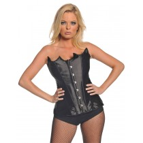 BUSTIER BLACK POINTED LARGE
