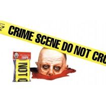 CRIME SCENE TAPE DO NOT CROSS