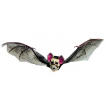 BAT WITH SKULL HEAD MED BROWN